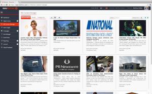 MavSocial RSS reading and posting screenshot