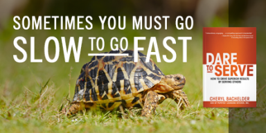 Sometimes you have to go slow to move fast