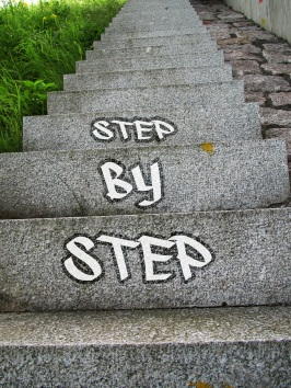 Step by Step -Stay Put Add Value - Dare to Serve