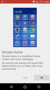 Sony Xperia Z3 Simple Home