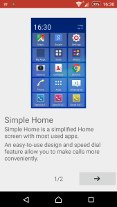 Sony Xperia Z3 Simple Home