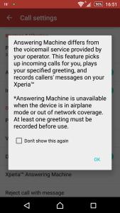Sony Xperia Z3 Answering Machine