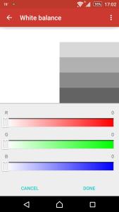 Sony Xperia Z3 White Balance