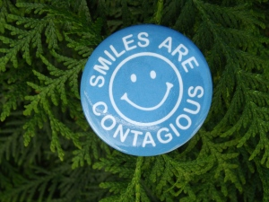 Smiles are Contagious Button
