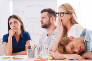 People Bored At A Meeting or Presentation