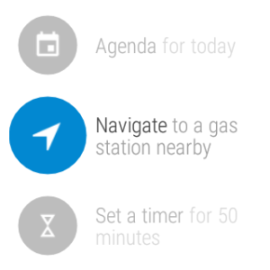 Sony SmartWatch 3 Screenshot of Navigation