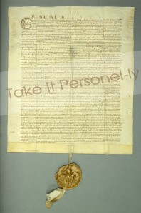 © Chapter of Durham Cathedral - Charter Of The Forest With Seal, Take It Personel-ly