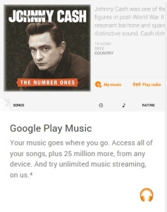 Google Play Music Android Wear