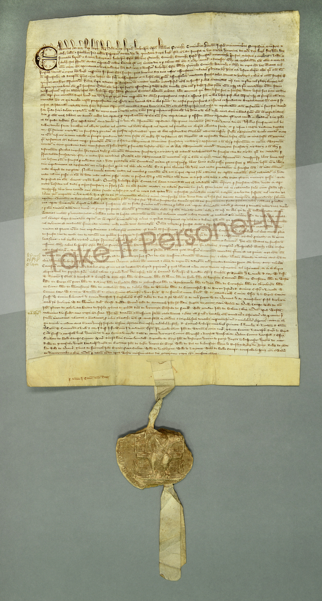 Magna carta the enduring struggle for rights justice take it chapter of durham cathedral magna carta with seal take it personel ly malvernweather Image collections