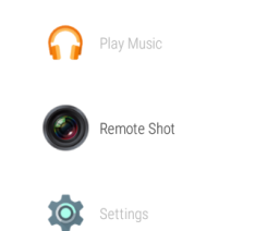 Remote Camera Screen Shot Shown in Apps Menu