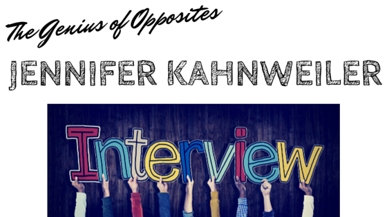 The Genius of Opposites Interview With Author Jennifer Kahnweiler, Take It Personel-ly