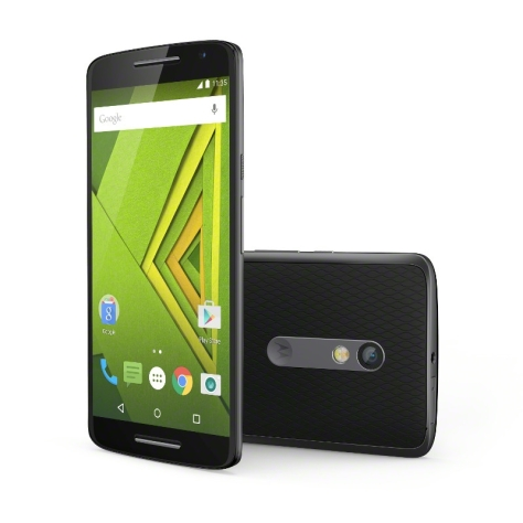 Moto X Play Front and Back