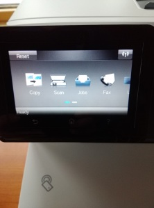 HP Color LaserJet Pro Printer Touchscreen