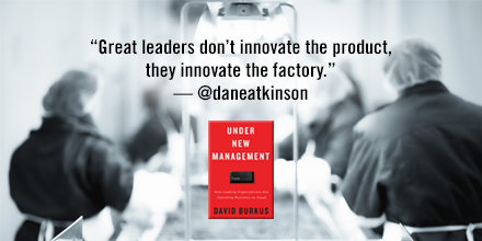 """Great leaders don't innovate the product, they innovate the factory."""