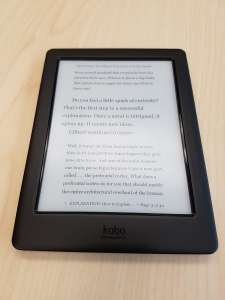 Review Kobo Glo HD Front