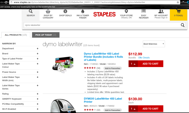 Sponsored Post: The DYMO® LabelWriter™ 450 Bundle From Staples Canada