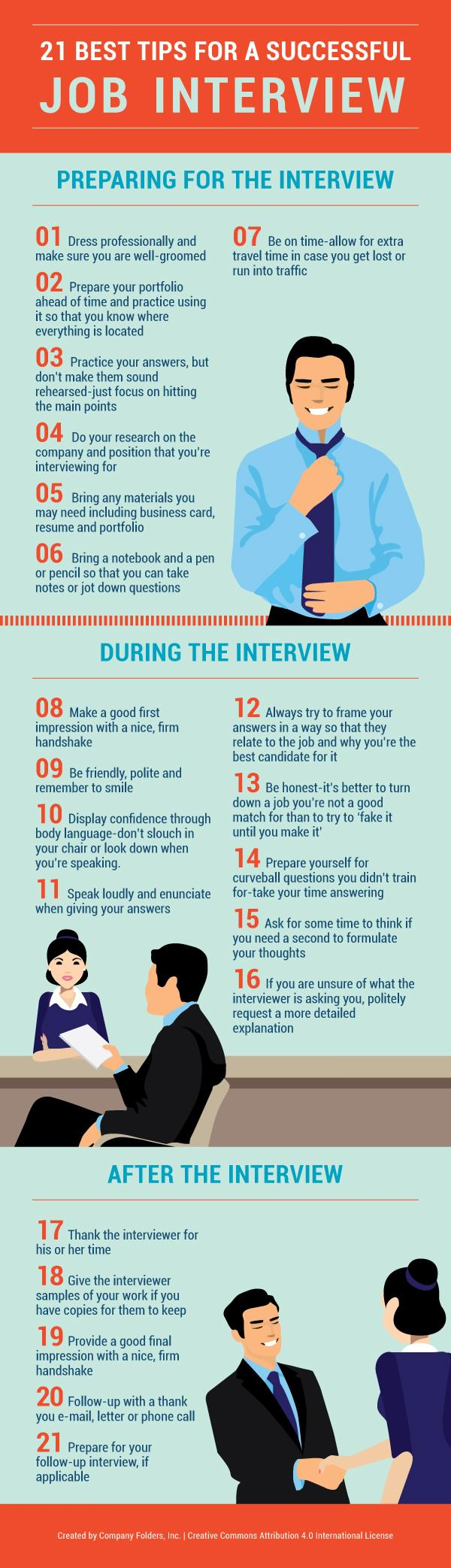 21 Ways You Can Beat Anxiety at Your Next Job Interview #Infographic